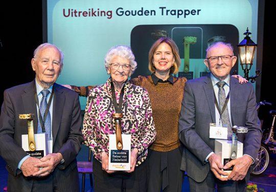 Winnaars van de Gouden Trapper, een prijs voor de oudste fietsers van Nederland