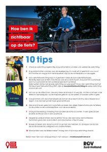 Flyer fietsverlichting met tips AAN